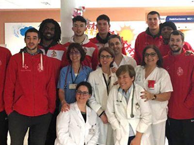 El CBV visita el Hospital de Villarrobledo en fechas navideñas