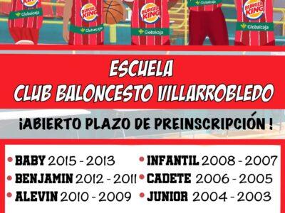 Preinscripción Escuela de Baloncesto CBV